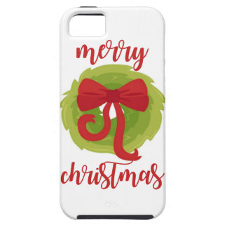 Merry Christmas Bow Wreath Case For The iPhone 5