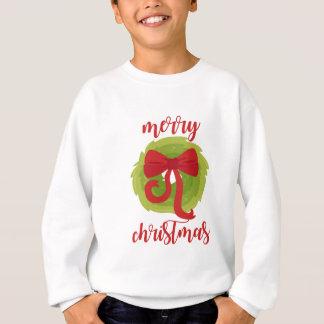 Merry Christmas Bow Wreath Sweatshirt