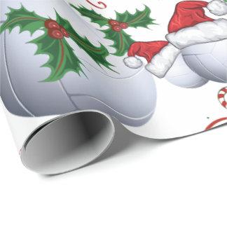 Merry Christmas Bowling Ball   Santa Wrapping Paper