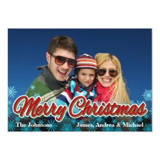 Merry Christmas Bright Photo Card 13 Cm X 18 Cm Invitation Card
