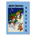 Merry Christmas Brother Card