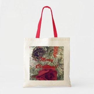 Merry Christmas Budget Reusable Tote Bag