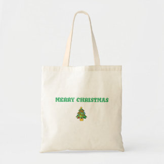 MERRY CHRISTMAS BUDGET TOTE
