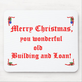 Merry Christmas Building and Loan Mouse Pad