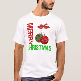 Merry Christmas Bulb Ribbon Ornanment T-Shirt