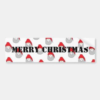 Merry Christmas Bumper Sticker Car Bumper Sticker