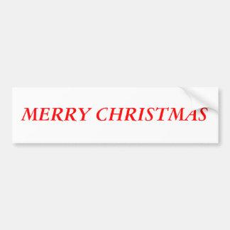 """""""Merry Christmas"""" Bumper Sticker"""