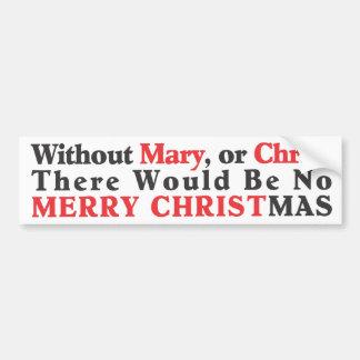 Merry Christmas Bumper Sticker- Bold Car Bumper Sticker