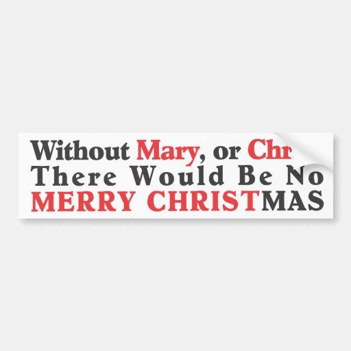 Merry Christmas Bumper Sticker- Bold