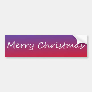 Merry Christmas Bumper Sticker (Full Color)