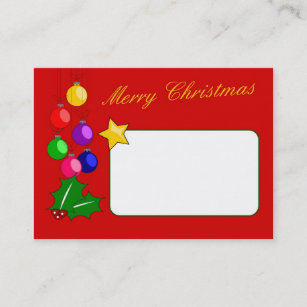 Merry christmas business cards zazzle au merry christmas business card colourmoves