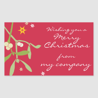 Merry Christmas business gift labels Stickers