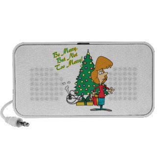 merry christmas but not too merry funny cartoon mini speaker