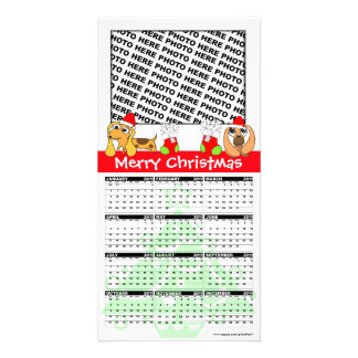 Merry Christmas Calendar 2011 Photo Card Doggie
