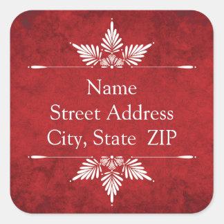 Merry Christmas Calligraphy Return Address Labels Sticker