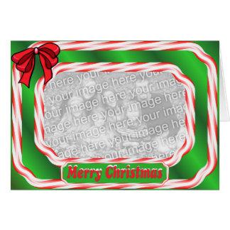 Merry Christmas Candy Cane Border Card