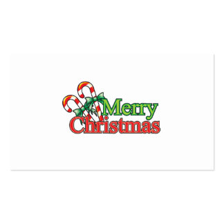 Merry Christmas Candy Cane Business Card Template