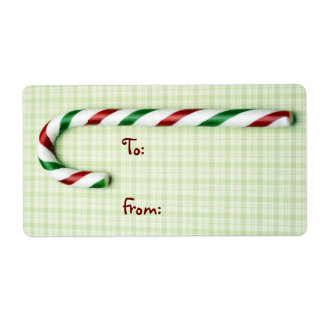 Merry Christmas Candy Cane Labels