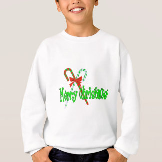 Merry Christmas Candy Canes Sweatshirt