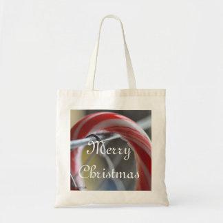 Merry Christmas Candycane Tote Bag