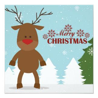 Merry christmas  card 13 cm x 13 cm square invitation card