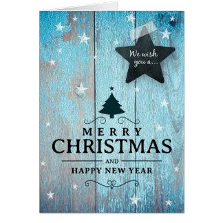 Merry Christmas Card Company Business Azure Blue