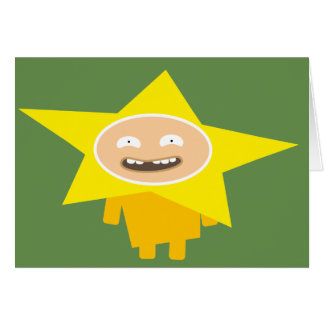Merry Christmas card - Funny Xmas Card star