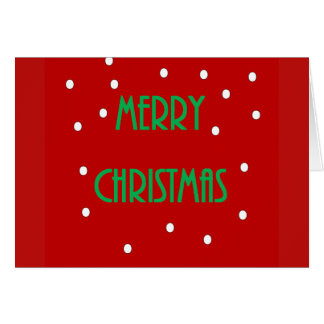 Merry Christmas Card - Red and Green