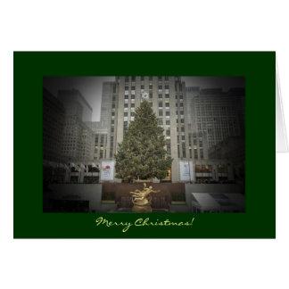 Merry Christmas Card - Rockefeller Center Tree
