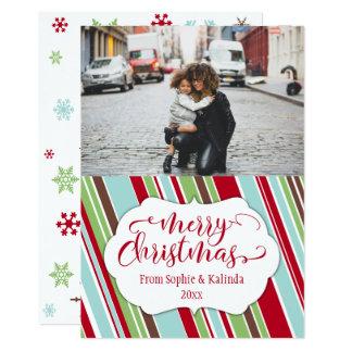 Merry Christmas Card w/ Vintage Color Palette
