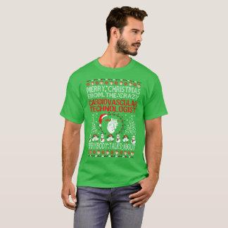 Merry Christmas Cardiovascular Technologist Ugly T-Shirt