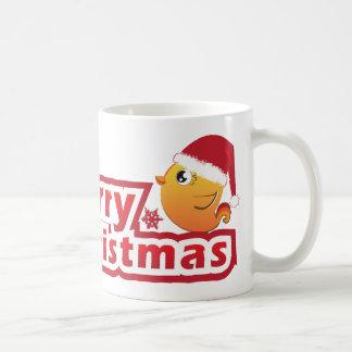 Merry Christmas cartoon baby bird  mug