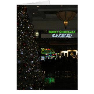 Merry Christmas Casino Card