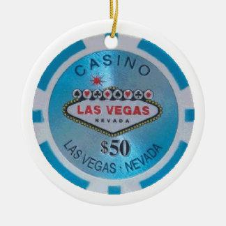 Merry Christmas Casino Chip Ornament