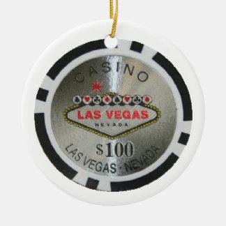 Merry Christmas Casino Poker Chip Ornament