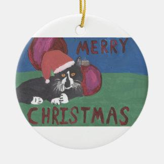 Merry Christmas Cat Christmas Ornament