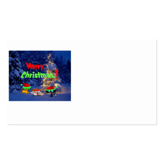 Merry Christmas Cats Business Card Templates