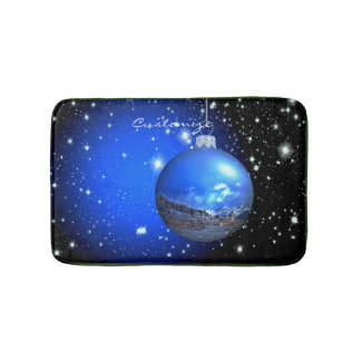 Merry Christmas celestial customized Thunder_Cove Bath Mat
