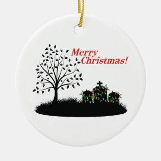 Merry Christmas! - Cemetery Ceramic Ornament