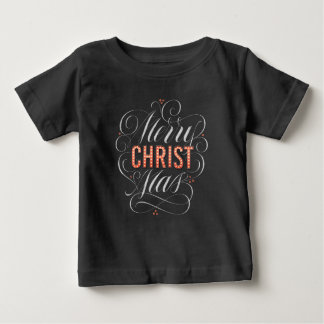 Merry CHRISTmas Chalkboard Marquee Religious Baby T-Shirt