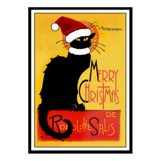 Merry Christmas -  Chat Noir Business Cards