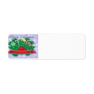 Merry Christmas Cheer Return Address Label
