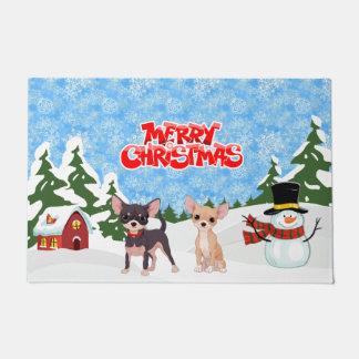 Merry Christmas Chihuahuas Doormat