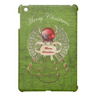 Merry Christmas - Christmas Angel - Green iPad Mini Cases