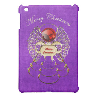 Merry Christmas - Christmas Angel - Purple iPad Mini Cover