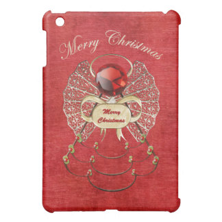Merry Christmas - Christmas Angel - Red Case For The iPad Mini