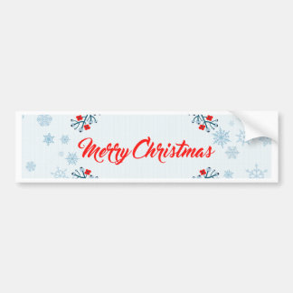 merry christmas christmas greeting bumper sticker