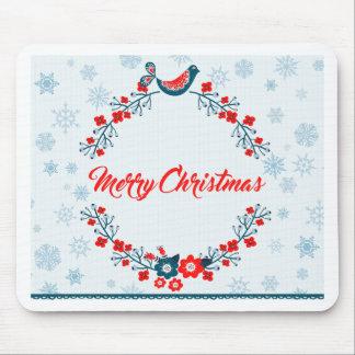 merry christmas christmas greeting mouse pad