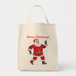 Merry Christmas! - Christmas Grocery Tote Grocery Tote Bag
