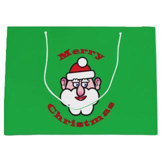 Merry Christmas, Christmas Santa Claus 3.6 Large Gift Bag